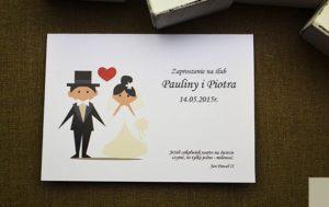 zabawne zaproszenie ślubne ludki